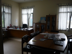 Esha's office, I work at the  meeting table on the right.