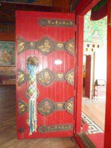 Decorative front door of Monastery entrance