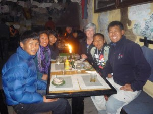 (l to r) Rinju, Doma,, Yanji, me, Pemba and Mingmar at Rundoodles, Thamel