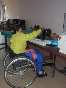 Vocational Training room - patients learning how to sew