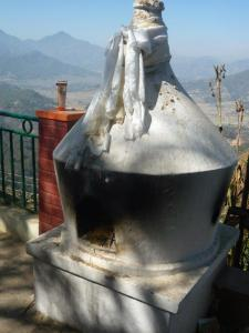 Incense burning at the Stupa