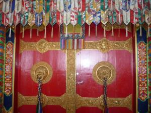 Ornate door temple entrance