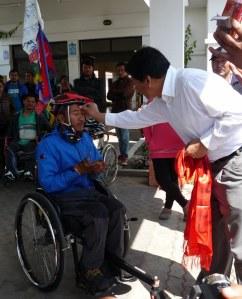 Prachanda Bdr Shrestha, SISN President, giving tikka to Ram