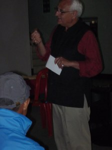 SIRC Founder, Kanak Mani Dixit, welcoming everyone to the Wheelchair Yaatra Fundraiser
