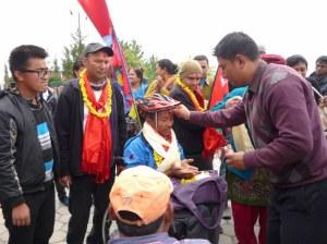 Tikka blessing from SIRC Admin Director Prakash Shrestha
