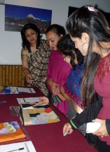Examining the sarees