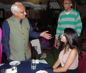 Kanak Mani Dixit, Founder of SIRC with Miss Nepal
