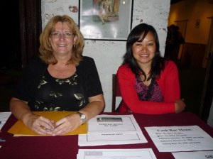 Karen & Chanda at the ticket table