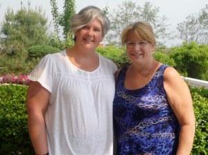Karen and I at the Meribel Resort in Dhulikhel