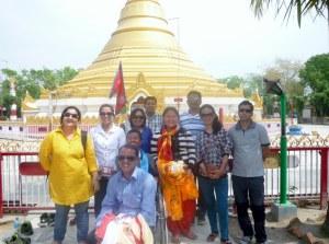 Esha, Mandira, Chanda, Shyam, Sanu Maya, Prakash, Sumjhana and Keshab with Ram and Suman out front.