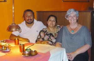 Farewell dinner with Esha and Kiran at Mela's, a very yummy Indian restaurant in Kathmandu