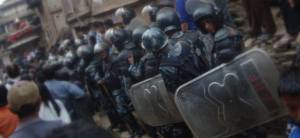 Once evening comes, it apparently gets a little rowdy after a days drinking and celebrating.  So the Nepal Police are at the ready for anything.