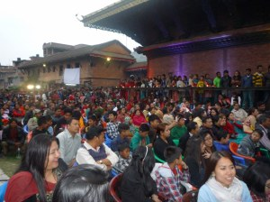The crowd at the concert