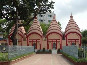 The four unusual mini-temples of Dhakeshwari Temple