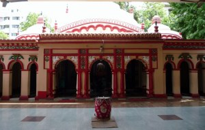 The main temple with ceremonial drum to call people to prayer