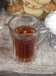 The end result, my ginger tea - delish!