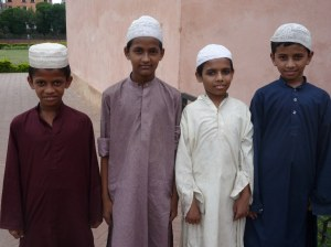 A few young scholars delighted to get their photo taken, and practice their excellent English with me