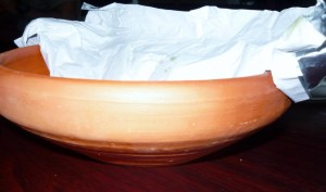 Pottery dish for the biryani