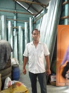 Progoti member running a metal sheeting retail store in Shombhugonj