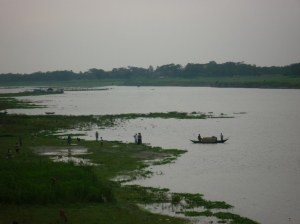 Boating on the Brahmaputra River