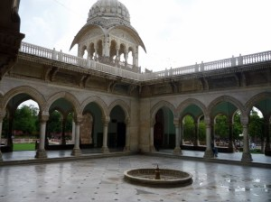 Breezy courtyard, complete with Mughal-style arches