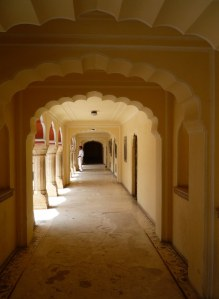 Another beautiful hallway with beautiful light, and domed arches.