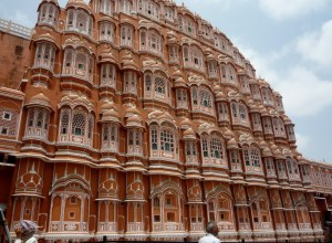 This is the outside of the Hawa Mahal.  Such a pity it was closed, a photo peeking through one of those carved screens of the city below would have been great.
