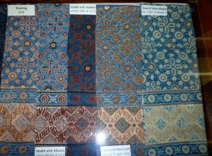 Some examples of hand blocking on locally dyed fabrics