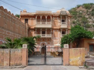 The renovated haveli that now houses the Anokhi Museum, located not far from the Amer Fort.