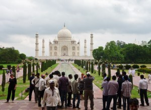A few of the walkway, gardens and ponds from the entrance gate to the Taj Mahal itself.
