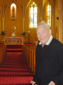 Uncle Jerry in St Mary's Cathedral in Sale, where he spent many a happy time.