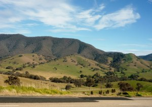 The Omeo Valley ..... no photo of the church I am afraid, we drove away too fast!