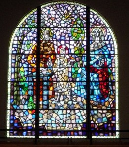 I love stained glass and this window caught my eye in the church in Yarram, donated by the Sweeney family (ex Cork) in the 1960s.