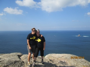 Grace and I at Finisterre