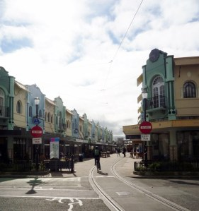 The recently renovated New Regent Street, home to boutique shops and many cafes, bars and restaurants.