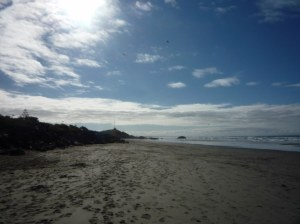 Sumner Beach - don't be deceived by the blue sky, it was chilly out there!