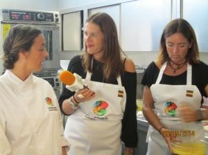 Imna interviewing Chef Gabriela