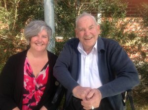 Photo of myself and Unc on our last day together in Bairnsdale, August 2014, just before I walked part of the Camino  in Spain with my sister Grace.