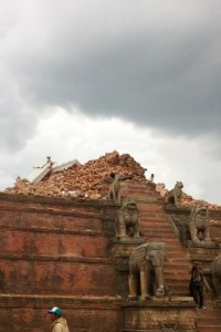 The photos of the  Nyatapola Temple in Bhaktapur that he sent me today.  Very sad.