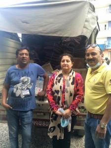 Thank you Helping Hand earthquake relief group for your supplies of blanket,bedsheet,rice and other essential supply for our patients at SIRC.
