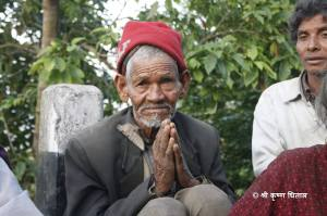 Namaste and Dhanybad from an old man