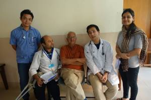 The Bangladeshi team with Kanak Mani Dixit.  Kanak is co-founder of SIRC along with his wife Shanta.  Both Kanak & Shanta not only provide practical assistance in the operation of SIRC, but also provide much moral support and levity to the stretched SIRC team.