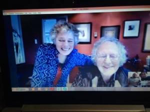 Peter & Claire mentoring via skype