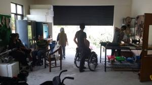 Wheelchair workshop and SIRC