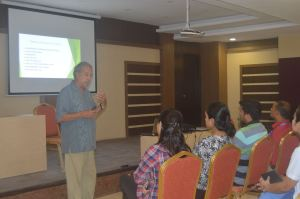 Dr Stanley Ducharme, a Psychologist from Boston University delivering a seminar Trauma and Spinal Cord Injury at SIRC.
