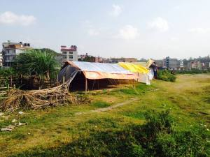 "June 13 2015:  Tents are everywhere around Kathmandu valley. Unlike this picture, most are in ""tent cities"" and are simply tarps where many families live."