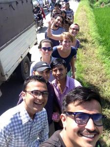 """MDT teams hiking towards SIRC to provide health service and bring smile on the faces of awaiting patients.""  Photo credit B'beck Ghimire"