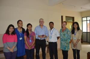 Ian with Dipesh, Nikita, Fiona and other SIRC volunteers at SIRC.