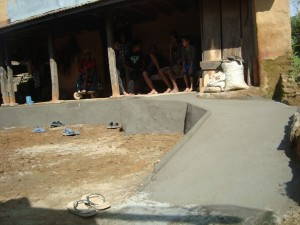 Newly built ramp by Prajwal now provides access to the home