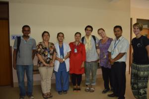 Grateful staff at SIRC along with Aaron Krupp of the Walkabout Foundation (4th from the left with kata).